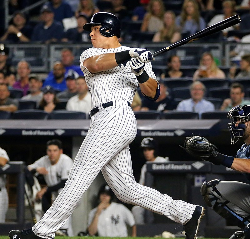 Aaron Judge Batting for the New York Yankees