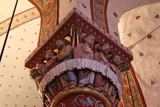 Abbatiale St Austremoine Issoire Chapiteau Cène