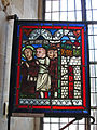 Abbaye de Royaumont - Fragment de vitrail dans les cuisines 01.jpg