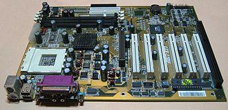ATX - An ATX motherboard