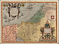 Abraham Ortelius. Palestinae Sive Totius Terrae Promissionis Nova Descriptio Auctore Tilemanno Stella Sigenens. 1572.jpg