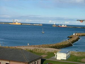 Peterhead - View of Peterhead bay, looking towards the breakwaters