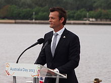 Adam gilchrist wikipedia adam gilchrist speaking at the 2013 national flag raising and citizenship ceremony in canberra fandeluxe Gallery