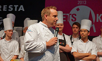 "Adam Price (screenwriter) - Adam Price as judge of the competition ""Chef of the Year 2013"" at ""Copenhagen Food Fair"""