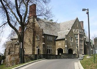 Fraternities and sororities - The chapter house of Alpha Delta Phi at Cornell University