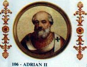 Pope Adrian II - Image: Adrian II
