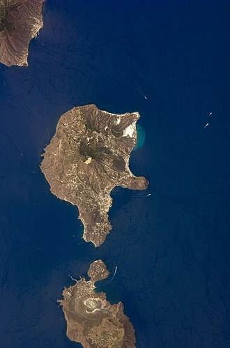 Aeolian Islands - The Aeolian Islands as seen from space.