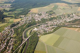 Runkel - Aerial photograph 2007