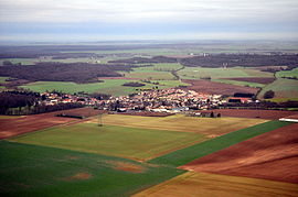 Aerial view of Moussy-le-Vieux, 2014