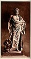 Aesculapius. Watercolour painting. Wellcome V0035845.jpg