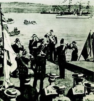 Souda Bay - The arrival of the first High Commissioner in 1898