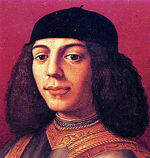 Piero the Unfortunate - Portrait of Piero de' Medici by Agnolo Bronzino.