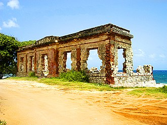1918 San Fermín earthquake - Image: Aguadilla Punta Borinquen Lighthouse Ruins