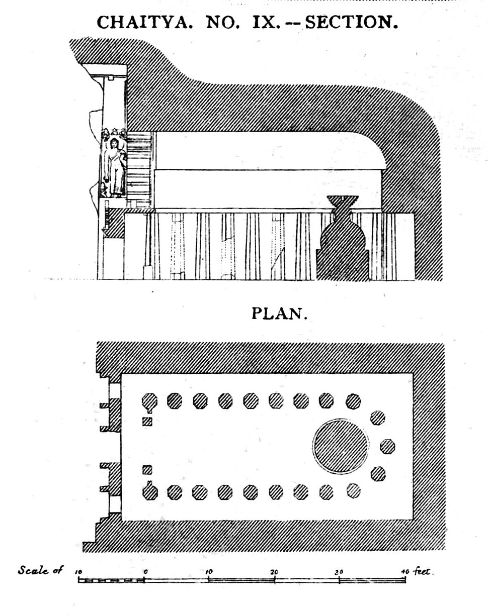 Ajanta Chaitya 9 plan