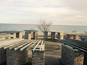 Ajax, Ontario - View of Lake Ontario as seen from Ajax Water Supply Plant located on Ajax Waterfront