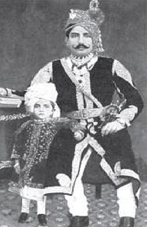 Ajit Singh of Khetri - Ajit Singh of Khetri with his young son Jai Singh. After the death of Ajit Singh in 1901, Jai Singh became the ninth king of Khetri.
