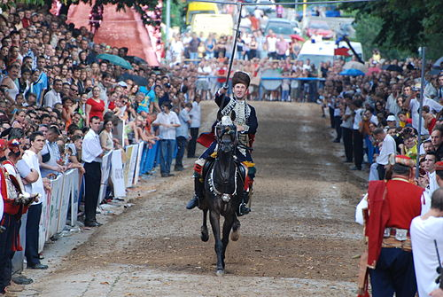 Alka is a traditional knights' competition. Akar 1.jpg