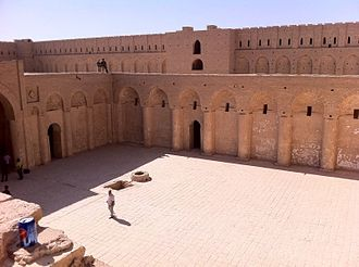 Abbasid architecture - Abbasid palace of Ukhaidir near Karbala, Iraq