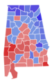 Alabama Senate Election Results by County, 1962.png