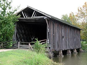 University of West Alabama - The Alamuchee-Bellamy Covered Bridge on campus