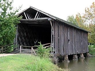 University of West Alabama - The Alamuchee-Bellamy Covered Bridge on campus