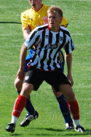 Alan Connell - Connell playing for Grimsby Town in 2010