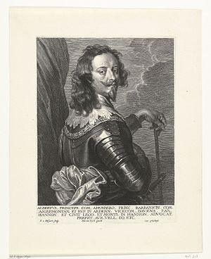 Albert de Ligne, Prince of Barbançon - Albert, Prince of Barbançon, engraved by Schelte a Bolswert from a portrait by Anthony van Dyck