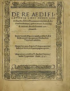 <i>De re aedificatoria</i> book