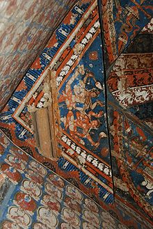 Painted ceiling of chorten