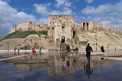 Aleppo, citadel 2009 reflection.jpg