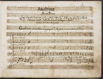 Alessandro Scarlatti - An autograph manuscript of Scarlatti's Griselda