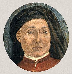 Alesso Baldovinetti - Alesso Baldovinetti's self-portrait. Fragment of destroyed frescos in Gianfiliazzi chapel (Bergamo, Accademia Carrara)
