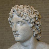 Alexandre Rondanini, copie romaine d'un groupe d'Euphranor représentant Alexandre et son père, Glyptothèque de Munich