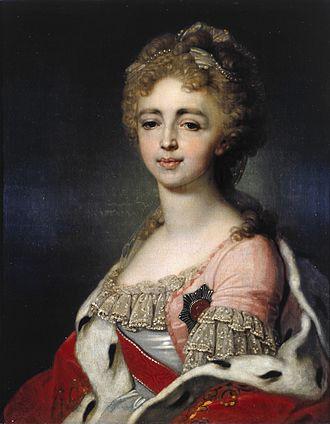 Grand Duchess Alexandra Pavlovna of Russia - Portrait by Vladimir Borovikovsky