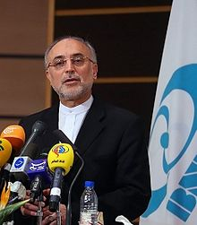Ali Akbar Salehi speaking in Bushehr.jpg
