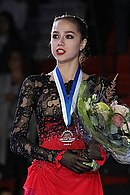 Alina Zagitova at the Grand Prix of Finland 2018 - Awarding ceremony 03.jpg