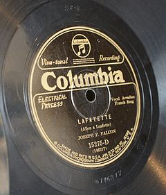"Columbia Records. ""Lafayette (Allon a Luafette)"""