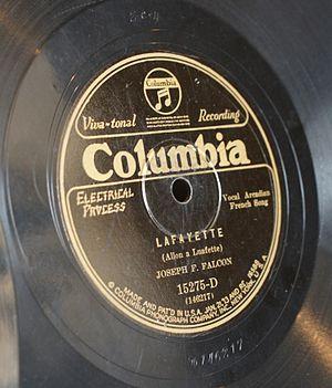 """Joe Falcon - Columbia Records. """"Lafayette (Allon a Luafette)"""""""
