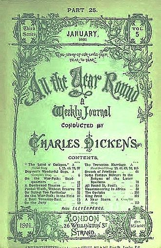 All the Year Round - Cover of third series, January 1891 issue