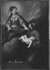 Die Muttergottes erscheint dem hl. Antonius