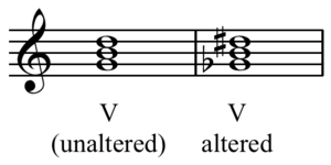 Altered chord - Image: Altered dominant chord C major