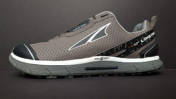 13ca3fbda340 Side view of an Altra trail running shoe.