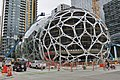 Amazon Spheres from 7th Avenue, August 2016.jpg