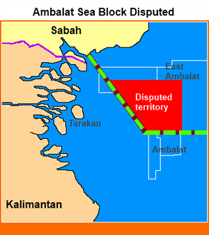 Ambalat - The disputed location on Ambalat sea block.
