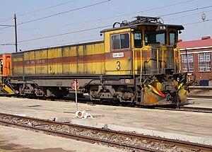 South African Class E38 - No. E38-003 at Sentrarand, 22 September 2009