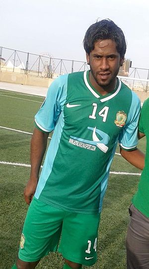 Al-Shorta SC - Amjad Kalaf wearing Al-Shorta's home kit in the 2013–14 season, in which they won the Iraqi Premier League title.