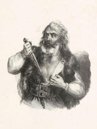 Hampsicora - Imaginary 1837 portrait