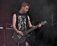 "Anaal Nathrakh, Mick ""Irrumator"" Kenney at Party.San Metal Open Air 2013 02.jpg"