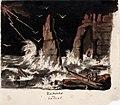 Anders Ekman - Myrskyinen merimaisema hylkyineen, keskellä jyrkkä kalliomuodostelma - A II 1575-17 - Finnish National Gallery.jpg