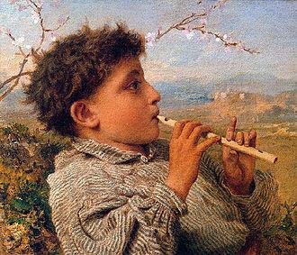 Sophie Gengembre Anderson - Image: Anderson Sophie Shepherd Piper 1881